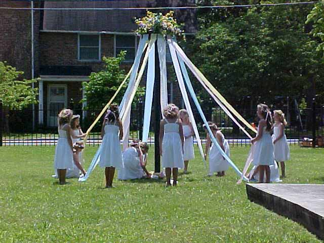 The Maypole Dancers